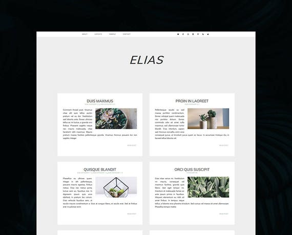 Elias Theme Minimalist WordPress Theme Genesis Child Theme