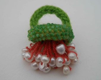 Every day elegance, brighten up any outfit with a crocheted ring.