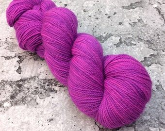 ELECTRIC ORCHID - 80/20 Merino Sock Hand-dyed Yarn