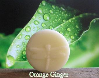 Orange Ginger Organic Natural Lotion Bar 2 oz. Pocket Size