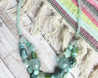 green chunky necklace - Fabulous mint statement necklace perfect to be remarkable - CO302