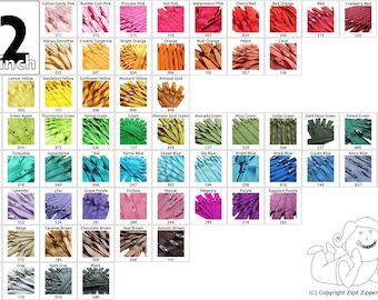 YKK Zippers Your choice of Colors 22 Inch Mix and Match Zips Qty25