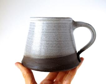 Alpine Mug in White, READY TO SHIP, Handmade Ceramic Pottery Mug, Handmade Wheel-Thrown Pottery
