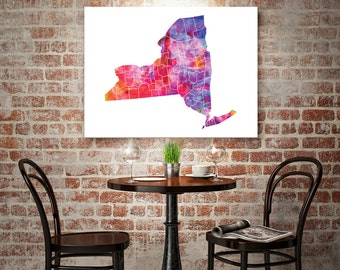 New York State Art Canvas