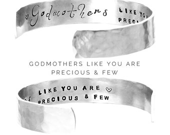 Godmother Gift | Personalized Jewelry | Womens Gift | Godmothers like you are precious and few | Baptism Gift | Christening Gift (B017)
