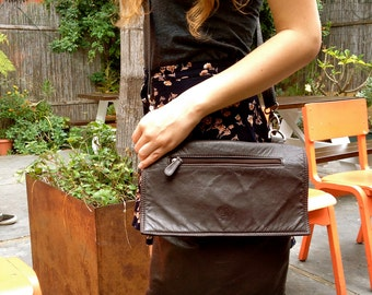 Purses for women – Dark brown – Leather Purse –Vintage soft leather - Messenger style