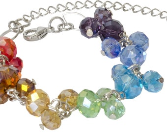 Chakra Crystal Stylish Bracelet Wristlet - Emerald - Ladies, Kids, Girls - One Of A Kind Unique Wearable Art - J200 Free Shipping in USA!