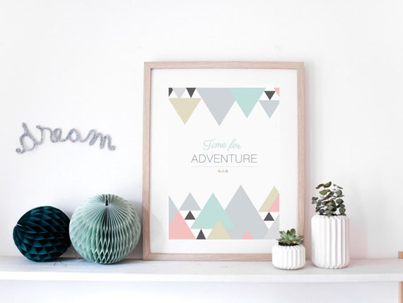 affiche time for adventure poster graphique. Black Bedroom Furniture Sets. Home Design Ideas