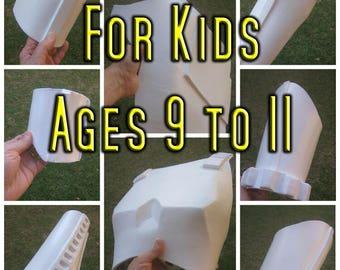 Kids Stormtrooper Full Armor Foam Templates Cosplay Costume