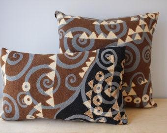 Vintage Jack Lenor Larsen Pillows, Woven Wool Pillows, Modern Design Pillows, Abstract Design Pillows