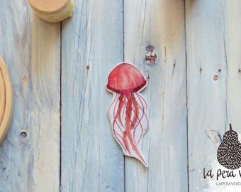 Jellyfish brooch, jellyfish pin, jellyfish badge, jellyfish jewelry, jellyfish plastic jewelry, shrink plastic jewelry, animal brooch
