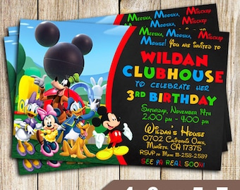 Mickey Mouse Birthday, Birthday Invitation, Mickey Mouse Birthday Invitation, Mickey Mouse Birthday Party, Mickey Mouse Printables