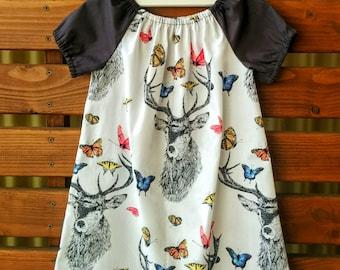 Girls Peasant Style Dress. Dear Butterfly. Size 3.