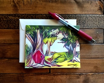 Enchanted Forest Note Cards (Set of 5)