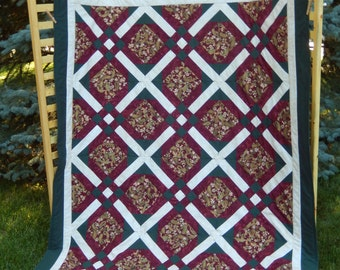 Crossed Paths Oversized Lap Quilt