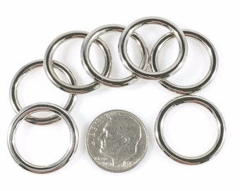 """O-RINGS Rings ZINC Cast Nickel Plate 9/16"""" /15mm ID 30 pieces"""