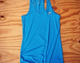 Runyon Women's Amazing Blue Yoga Tank Made In USA