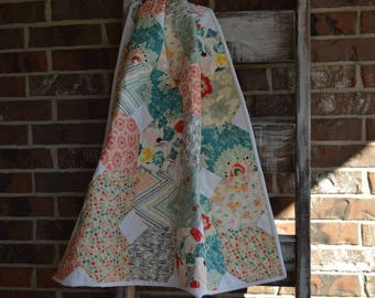 Pastel and White Quilt