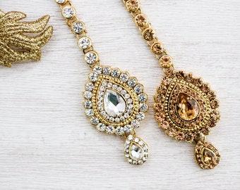 Maang Tikka - Indian/Bollywood Hair Jewellery - Bridal Headpiece