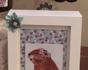 Decorative frames woodland animals spring decor