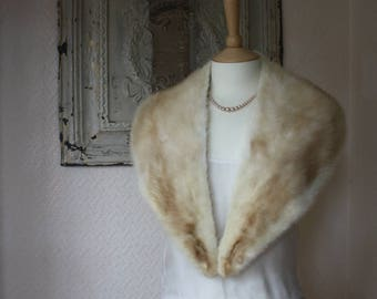Gorgeous Blonde Real Mink Vintage Fur Collar