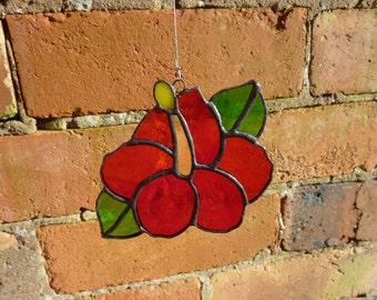 Stained glass  Hibiscus suncatcher,ハイビスカスのサンキャッチャー