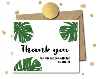 Thank you wedding card, Card for bridal party, Wedding Card, thank you for being my, card for bridesmaid, maid of honor, parents, best man