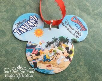 Disney Cruise Ornament - Castaway Cay Ornament - Disney Ornament - Double Dip Ornament - Ornament Exchange - Fantasy Ornament
