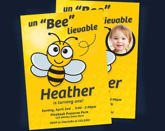 Busy bee first birthday invitation bee birthday invitation bee invitation bee birthday invitation bee birthday party invitation bee party invite filmwisefo Images