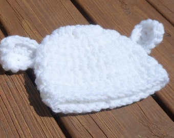 Lamb Hat, Baby Lamb Cap, Baby Girl Hat, Baby Boy Hat, Newborn Baby, Infant Crochet, Etsy Baby, Newborn Prop, Bring Home Baby, Cute Lamb Hat