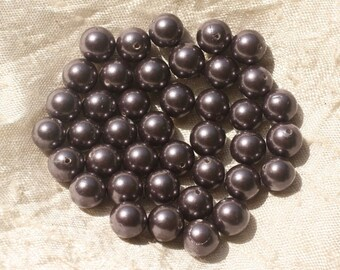 10pc - balls 8mm 4558550020512 violet pearl beads