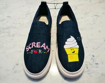 Scream for Ice Cream Canvas Shoes