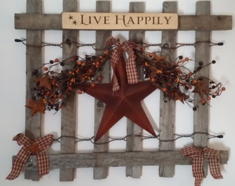 Country Fence Wall Hanging