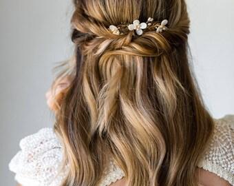 Flower Leaf Headpiece Bridal Headpiece Wedding Headpiece Bridal Comb Leaf Comb Flower Comb Pearl Comb Leaf Hair Comb Bridal Hair Comb #165