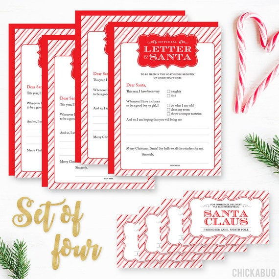 Original official letter to santa kit set of 4 cards red original official letter to santa kit set of 4 cards red envelopes and mailing labels spiritdancerdesigns Image collections