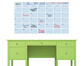 Wall decal DRY ERASE Monthly CALENDAR Office interior decor - Various colors available by GraphicsMesh