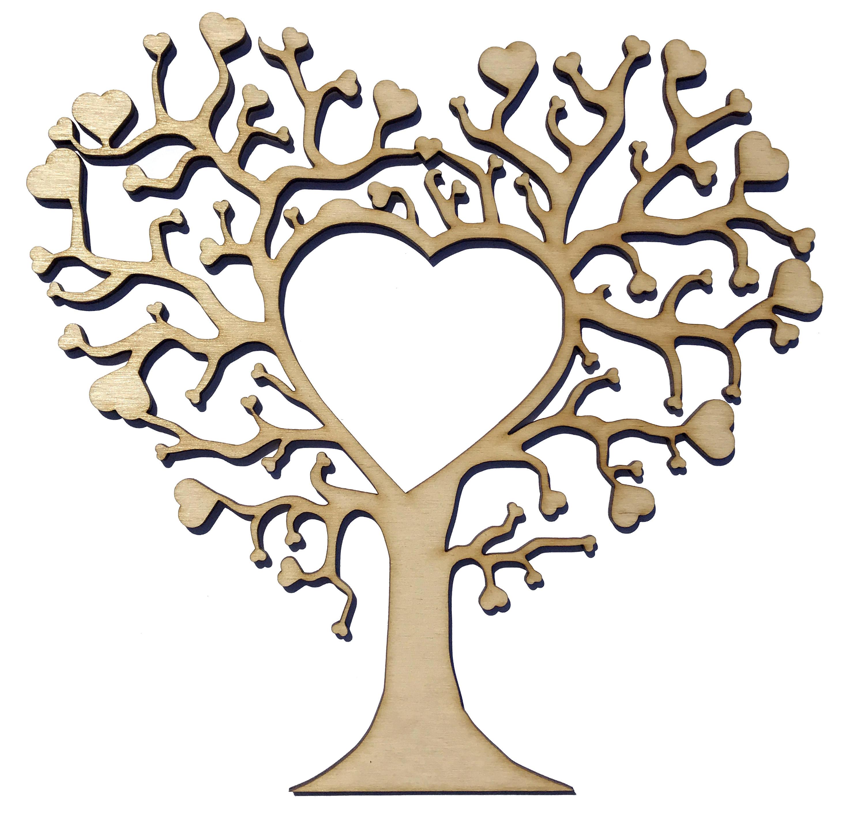 Holz Baum Form Handwerk leere Hochzeit Gästebuch Stammbaum
