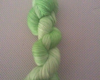 Limeade- Hand Dyed Baby Aplaca Yarn Fingering Weight