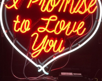 Affordable neon signs, Romantic neon sign, love heart neon sign, loveheart sign, loveheart