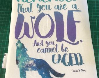 Wolf sarah j maas inspired bookbestie book sleeve padded and lined HARDBACK size