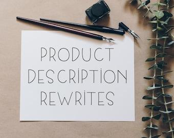Product Description Rewrites | SEO Optimized Product Descriptions | SEO Product Listings