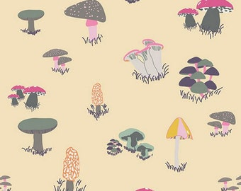 Art Gallery Fabrics - Fantasia by Sara Lawson - Agaricus Forest Froth