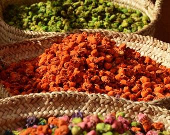 Colorful Travel Photography - Kitchen Decor, Baskets, Spices, Morocco, Bright Colours, Market Photo, Fine Art Photography - True Colours