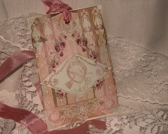 Paper Sachet Gift Tags Paris Chic Collection (PSGT0010) Customize ECS