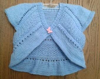 Knitted vest for girls    Вязаный жилет для девочки