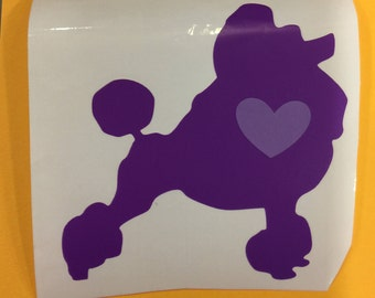 Poodle, Poodle Decal, Dog Decal, Decal, Cup Decal, Yeti Cup Decal, Car Decal, Laptop Decal
