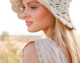 Crochet hat, cotton cap, woman accessory. Handmade, CHOOSE THE COLOR.
