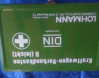 First Aid Kit German Kraftwagen First Aid Kit Tin Box Kraftwagen Car First Aid Tin Box VW Beetle First Aid Tin Ghia Bus First Aid Tin Kit