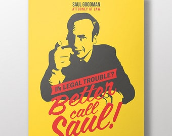 Better Call Saul Print - Breaking Bad Saul Goodman Poster Print - Framed A3 Poster