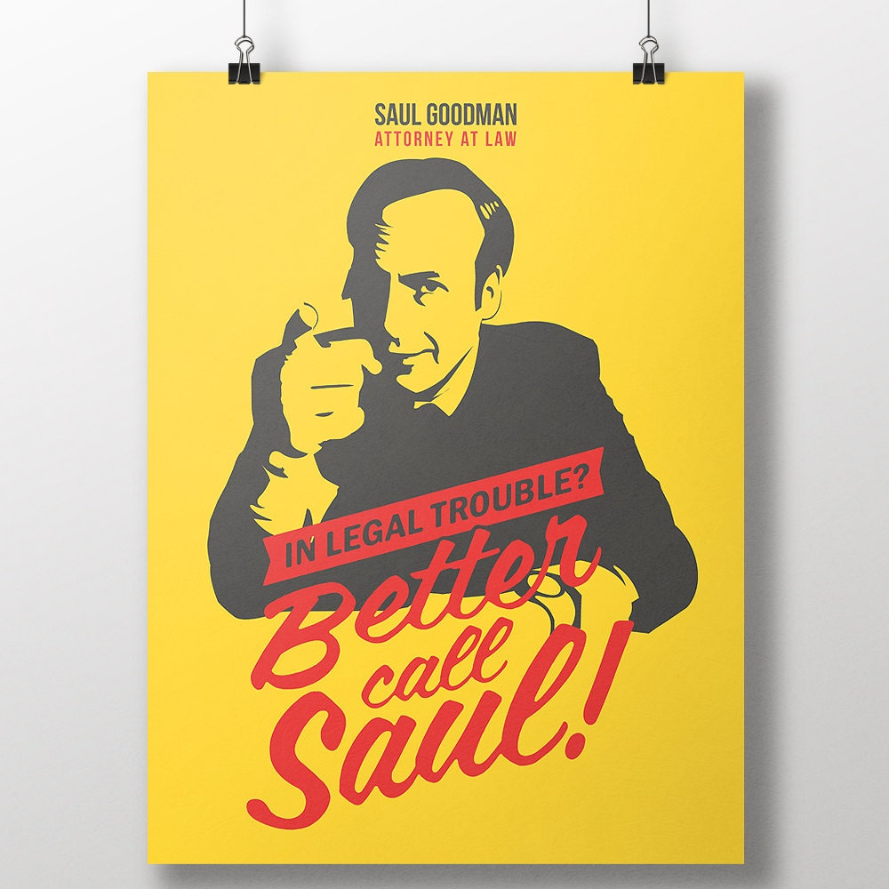 Better call saul print breaking bad saul goodman poster zoom jeuxipadfo Choice Image